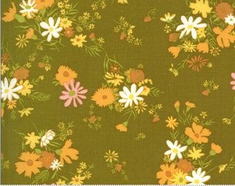 SALE Blooming Bunch by Maureen McCormick - Bundle - Avocado 40042 17 Select a Size- FQ - half or full yard- Moda Cotton Quilt Fabric