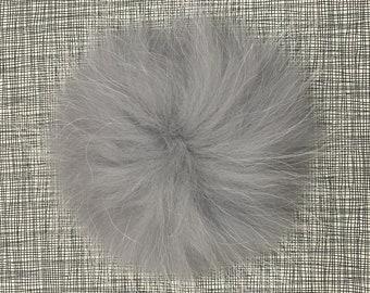 Snap on Raccoon XL Pom Pom 15 cm - Light Grey