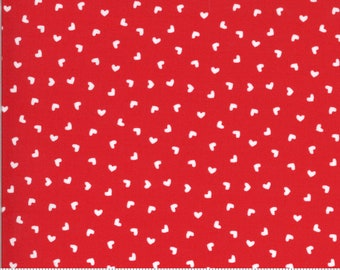 Be Mine by Stacy Iest Hsu for Moda - Sweetness - Kisses - Red - 20717 14 - 100% Cotton Quilt Fabric - Choose your Size K