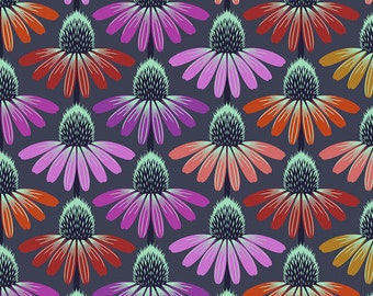 Hindsight by Anna Maria Horner for Free Spirit Fabrics - Echinacea Glow - Glow - FQ BTHY Yard - Cotton Quilt Fabric 9-21