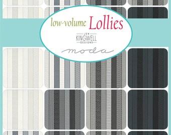 Low Volume Lollies by Jen Kingwell Design for Moda - Pre-Cuts -  Dessert Roll or 1/2 Yard Bundle