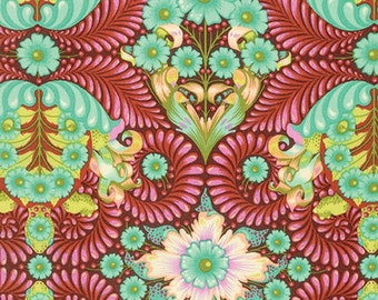 Slow & Steady by Tula Pink for Free Spirit - The Tortoise - Orange Crush - Cotton Quilt Fabric 8-21+B