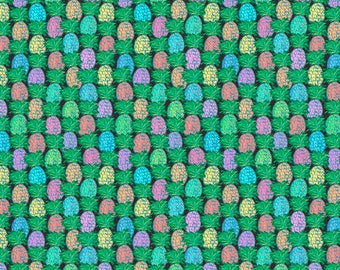 SALE Judith's Fancy by Jennifer Paganelli for Free Spirit - Pineapple - Black - BTHY cotton quilt fabric