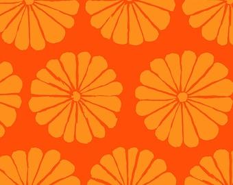 Kaffe Fassett Collective - Damask Flower - Orange - PWGP180 - FQ BTHY Yard - 100% Cotton Quilt Fabric 921