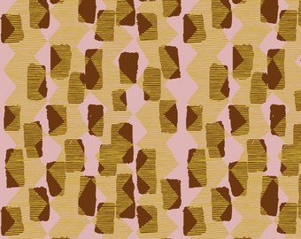 Vestige by Bookhou for Anna Maria Horner's Conservatory for Free Spirit - Tilli Rain - Caramel - BTHY Yard Cotton Quilt Fabric