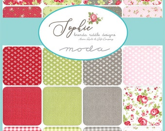 Sophie by Brenda Riddle Acorn Quilts for Moda - Pre-Cuts - Layer Cake or Charm Pack