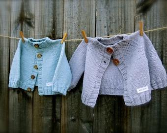 wee Cardi Knitting Pattern by Big Bad Wool - PDF Download