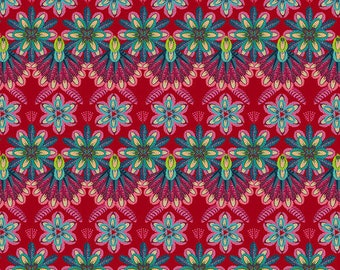 Plumettes - MagiCountry by Odile Bailloeul for Free Spirit - Rouge PWOB050 - FQ Fat Quarter BTHY Yard - Cotton Quilt Fabric 1021