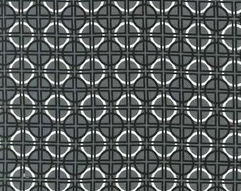 Metro Living by Robert Kaufman - Black Grey White - 1/2 yard cotton quilt fabric 516