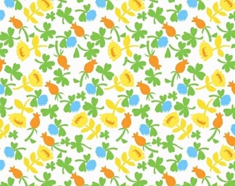 OOP Heather Ross Briar Rose for Windham Fabrics - 37027-1 Calico Blue - FQ BTHY Yard cotton quilt fabric 921
