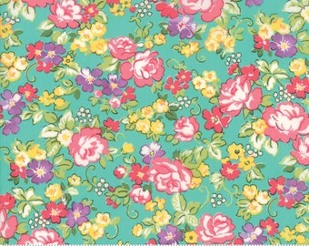 Regent Street Lawn 2018 by Moda - Hampton Court - Turquoise - Cotton Quilt Fabric 2020