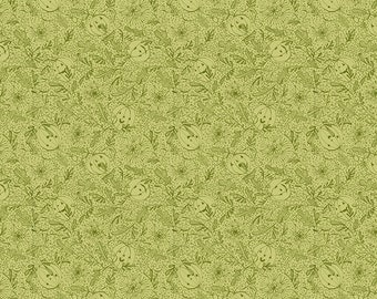 Spirit of Halloween by Cori Dantini for Free Spirit - We See You - CD005 Green - 100% Cotton Quilt Fabric - FQ BTHY Yard 921