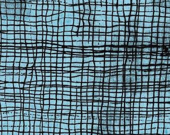 The Blue One by Marcia Derse -  SCREEN  43191A 20 Mali Blue  - 100% Cotton Quilt Fabric - FQ BTHY Yard 8-21
