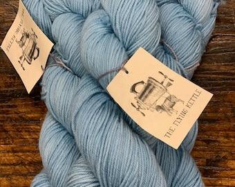 Merman Blue Blimp Yarn by The Flying Kettle - Hand- Dyed 100% Merino Wool