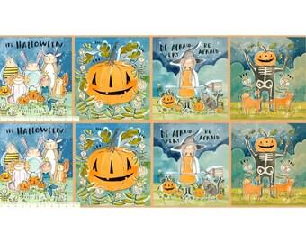 "Spirit of Halloween by Cori Dantini for Free Spirit - In the Spirit Panel - CD001 100% Cotton Quilt Fabric - 12""x44"""