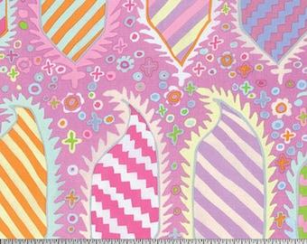 Kaffe Fassett - Striped Heraldic - Pink - GP153 - FQ Fat Quarter BTHY Yard Cotton Quilt Fabric 1021