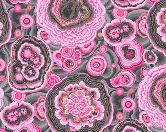 Kaffe Fassett Collective Phillip Jacobs - Agate Pink - PJ106 - FQ Fat Quarter BTHY Yard 100% cotton quilt fabric 1021