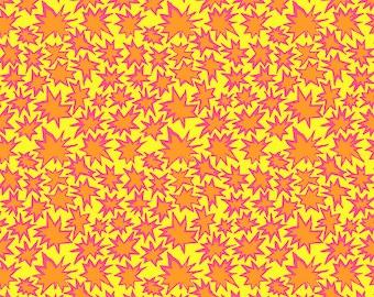 Kaffe Fassett Spring 2019  Brandon Mably Free Spirit - BM072 Bang - Yellow - Cotton Quilt Fabric - FQ Fat Quarter BTHY Yard 1021