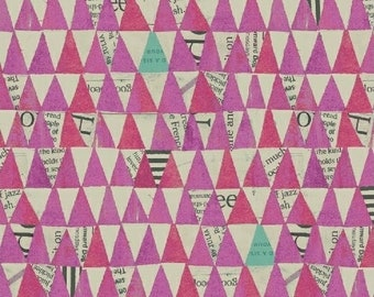 Wonder by Carrie Bloomston for Windham Fabrics - Stacked Triangles - Orchid - 50521-7 - Cotton Quilt Fabric - Choose your Size 8-21+B
