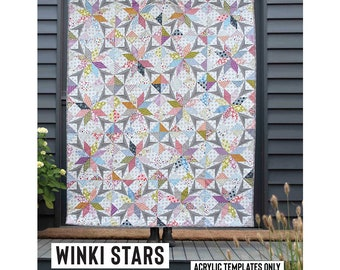 Winki Stars Acrylic Template featured in Quilt Recipes Pattern Book by Jen Kingwell Designs