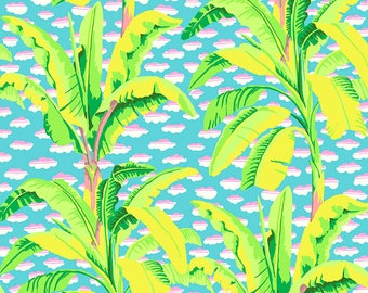 Kaffe Fassett Collective - Banana Tree - Green - PWGP179 - FQ BTHY Yard -100% Cotton Quilt Fabric 921
