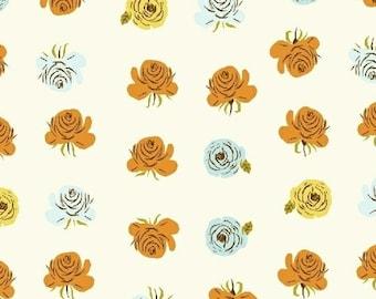 Far Far Away 2 by Heather Ross Windham Fabrics - 51203-2 - Roses - Aqua - Cotton Quilt Fabric - FQ BTHY Yard 921