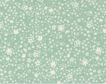 Songbook by Fancy That Design House  - Glory Skies Green Background - 45527 16 - Cotton Quilt Fabric - Fat Quarter fq BTHY By the half yard