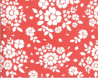"""Pre-Cut 108"""" Canning Day Strawberry Red Corey Yoder Little Miss Shabby - 11159 22 - 100% Cotton Quilt Back Fabric - Sateen"""