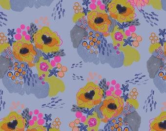 Flower Market by Courtney Cerruti - Anna Maria's Conservatory FreeSpirit - Flowerfield - Morning - FQ BTHY Yard - Cotton Quilt Fabric 9-21
