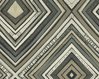 Wonder by Carrie Bloomston for Windham Fabrics - Zig Zag - Charcoal - 50520-5 - Cotton Quilt Fabric - Choose your Size 8-21+B