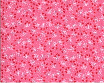Be Mine by Stacy Iest Hsu for Moda - Loves A Bloom - Sweetheart - Pink - 20715 13 - 100% Cotton Quilt Fabric - Choose your Size K