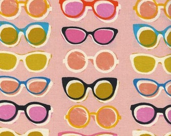 Poolside by Alexia Abegg and Melody Miller for Cotton & Steel - Shade - Pink - 1/2 Yard Cotton Quilt Fabric