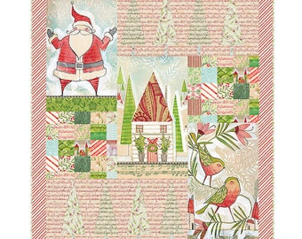 Deck the Halls Quilt Kit by Cori Dantini featuring Holly Jolly for Freespirit Fabrics - 100% cotton quilt fabric