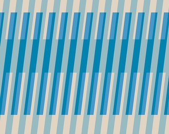 Clementine by Melody Miller of Ruby Star Society for Moda - Fruity Stripes - Bright Blue - Select a Size - Cotton Quilt Fabric