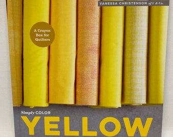 SALE Simply Color: A Crayon Box for Quilters - Yellow - By Vanessa Christenson - Hardcover Book 2015