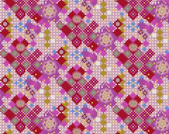 Love Always by Anna Maria Horner for Free Spirit - Postage Due - Candy - PWAH068 - Select a Size - Cotton Quilt Fabric