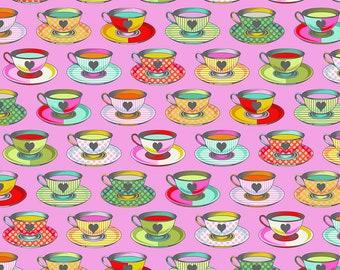 Curiouser & Curiouser by Tula Pink - Tea Time Wonder - TP163.WONDER Cotton Quilt Fabric - Fat Quarter fq BTHY Yard