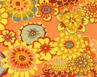 HTF OOP Kaffe Fassett - Asian Circles Gold Orange GP89 - BTHY 1/2 Yard Cotton Quilt fabric