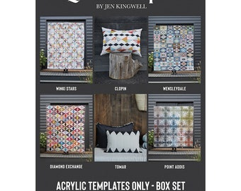 Pre-Order!   Quilt Recipes Complete Tempters Set for patterns featured in Quilt Recipes Pattern Book by Jen Kingwell  Free Shipping in US