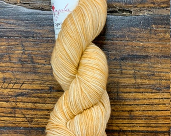 Apricot Squishy by Anzula Luxury Fibers - Skein of Hand-Dyed Fingering Weight Merino Wool Cashmere Nylon