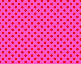 All Stars by Tula Pink for Free Spirit - Pom Poms - Peony - Cotton Quilt Fabric - Choose Your Size