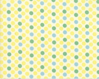 Cheeky by Urban Chiks for Moda - Dottie - Buttercream - Light Yellow - Sweet Cream - 100% Cotton Quilt Fabric - Choose your Size