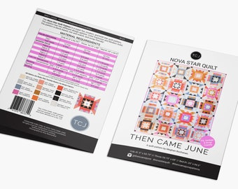 Nova Star Quilt Pattern by Then Came June - Print Pattern