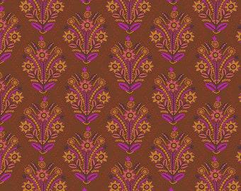 Tambourine by Anna Maria Horner for Free Spirit - Stitchery - Brass - BTHY Yard 1/2 yard Cotton Quilt Fabric 9-21+B