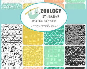 SALE Zoology by Gingiber - Pre-Cuts and Yardage - Jelly Roll - Charm - Layer Cake