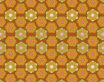 Hindsight by Anna Maria Horner for Free Spirit Fabrics - Honeycomb - Sunset - BTHY Yard - Cotton Quilt Fabric 9-21