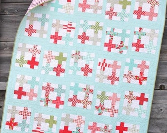 Tea Party Quilt Pattern by Cluck Cluck Sew - Print Pattern
