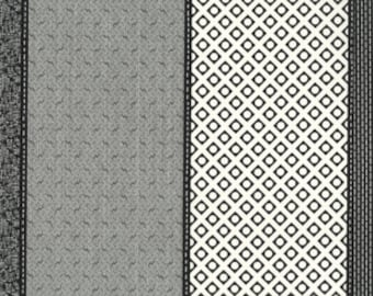 Low Volume Lollies by Jen Kingwell Designs for Moda - Charcoal - Ivory - Black - 18200 22 - 1/2 Yard Cotton Quilt Fabric