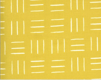 SALE Zoology by Gingiber - Opposing Lines - Citrine - Gold - Select a Size - Cotton Quilt Fabric