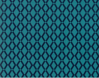 Rosa by Crystal Manning for Moda - Weave - Lagoon - Turquoise - Cotton Quilt Fabric - BTHY Yard 1021